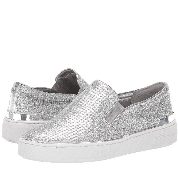 ec2494276f0097 Michael Kors Shoes | Kyle Silver Slip Ons | Poshmark